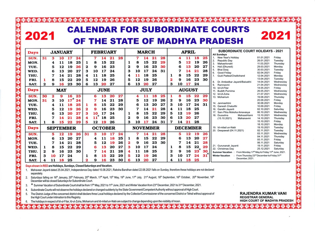 Supreme Court Calendar 2022.Calendar District Court In India Official Website Of District Court Of India
