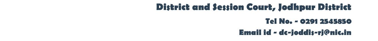 contactus - Jodhpur District