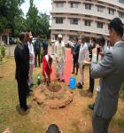 Tree being planted by Hon'ble Mr.Justice Biswanath Somadder, the Chief Justice of the High Court of Meghalaya and his wife on 10.06.2020 in the premises of the District Courts, East Garo Hills District