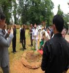 Tree being planted by Hon'ble Mr.Justice Biswanath Somadder, the Chief Justice of the High Court of Meghalaya on 10.06.2020 in the premises of the District Courts, East Garo Hills District