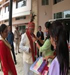 Hon'ble Mr.Justice Biswanath Somadder, the Chief Justice of the High Court of Meghalaya being welcomed on 10.06.2020 to the District Courts, East Garo Hills District