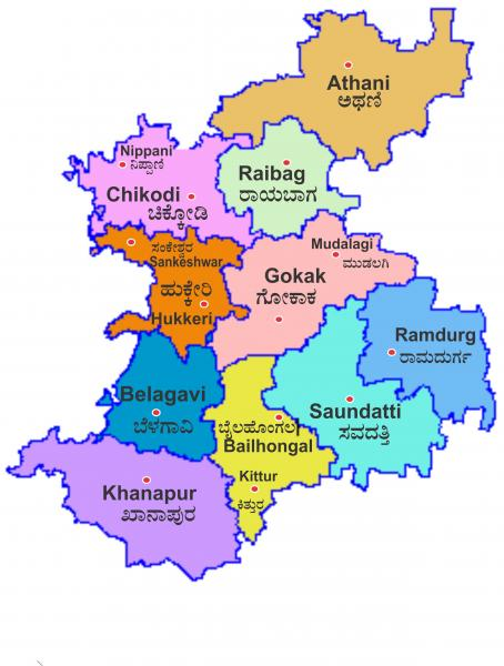 Belgaum District Map