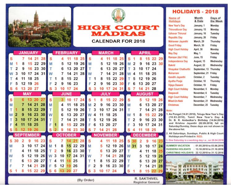 Supreme Court Calendar 2022.High Court Calendar 2018 District Court In India Official Website Of District Court Of India